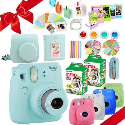 Fujifilm Instax Mini 9 Camera + 40 Sheets Instant Film + Case + Album + Filters