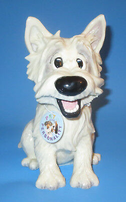 Westie Figurine Pets with Personality West Highland White Terrier Dog Aurora Mac