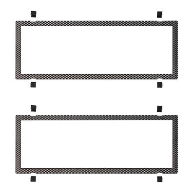 Number Plate Covers 6 Figure Standard Carbon Fibre Look Clear One Pair