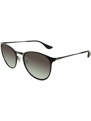 Ray-Ban Women's Gradient Erika RB3539-002/8G-54 Black Oval Sunglasses