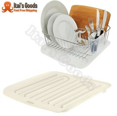 Antimicrobial Dish Rack Drainer Tray Drainboard Kitchen Sink Drain Board Small