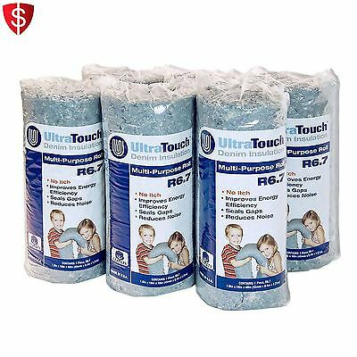 Denim Insulation Multi-purpose Rolls Cotton Home Acoustic Sound Proofing 6-Pack