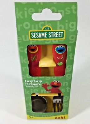 Sesame Street Kids Easy Grip Flatware Spoon & Fork Cutlery Set . Zak Designs