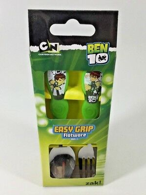Ben 10 Kids Easy Grip Flatware Spoon & Fork Set . Zak Designs