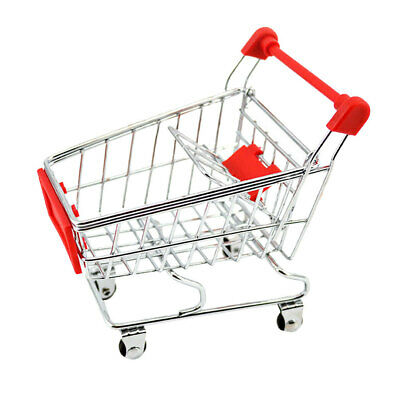 Mini Shopping Cart Supermarket Handcart Trolley Kids Pretend Play Toy Red