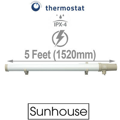 Sunhouse 200W Low Energy Eco Tubular Heater 5ft Tube Built In Thermostat Stat