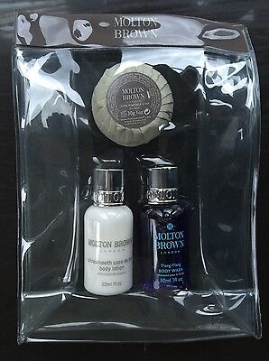 Molton Brown Ladies Body Wash / Body Lotion & Soap Gift Set in Travel Bag.