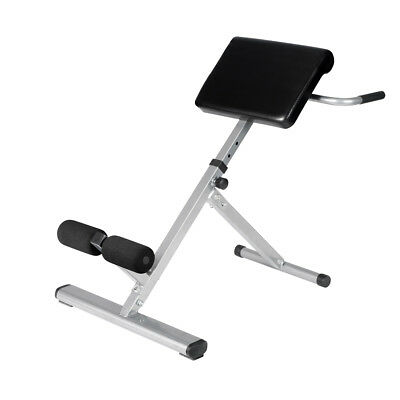 Adjustable Roman Chair Core Abdominal Trainer Back Hyperextension Fitness Bench