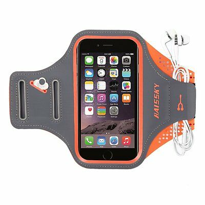 Haissky Sport Armband Running Jogging Case Build in Key + Id + Credit Cards & Mo