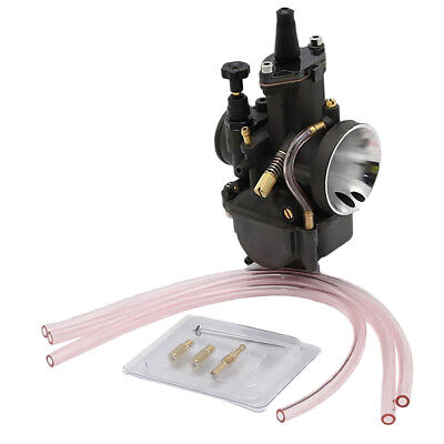 Carb Carburetor Kit with Power Jet for Keihin PWK Scooter ATV Quad 34mm