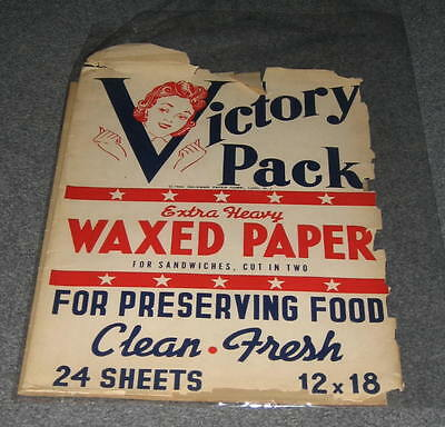 World War 2 Victory Pack Waxed Paper 1944