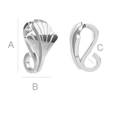 S3s12 High Quality pinch Bail pendant Sterling Silver 925 best for many crystals