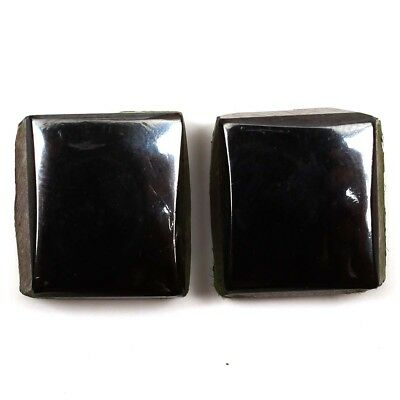 Natural  Haematite Gemstones Loose Cushion Shape Matching Pair