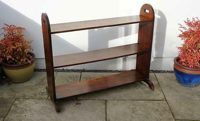 Victorian Mahogany trolley style, open, library bookcase