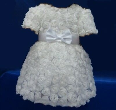 """White Roses First Communion Dress for 18"""" American Girl Doll Clothes"""
