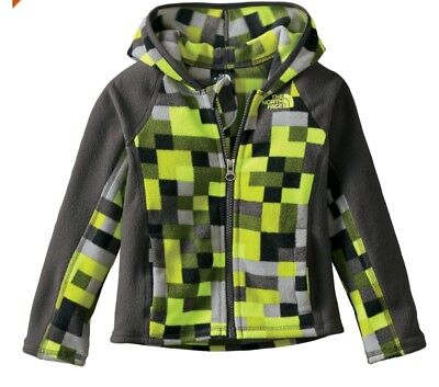 The North Face Toddler Boys Glacier Full Zip Hoodie Fleece Jacket New 3T Green