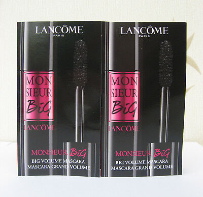 Lancome Monsieur Big Mascara Handbag Size (01) - Big Is The New Black  x 2  u/b