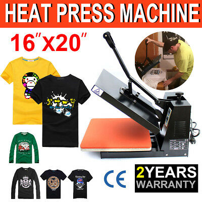 "US 16""x20"" Digital Heat Press Machine T-Shirt Transfer Sublimation Clamshell DIY"