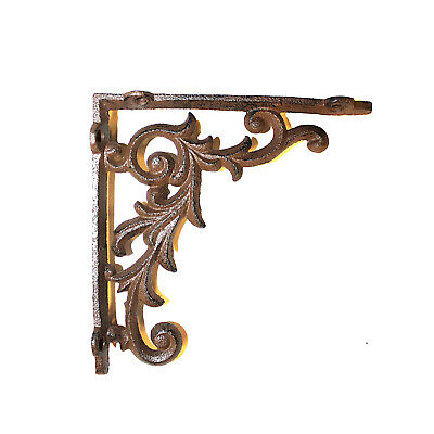 Old Country Shelf Bracket in Cast Iron Small Leaf 6.5 Inch - The Kings Bay