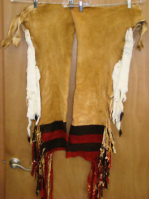 Traditional Dance Leggins Brain Tanned Smoked Hide Osage Sioux Pawnee Crow Ponca
