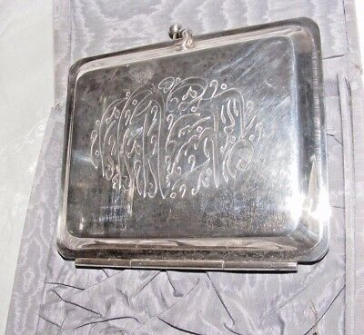 Topkapi Lebanese Silver Plated Wedding Money Gift / Invitation Purse In Silk Box