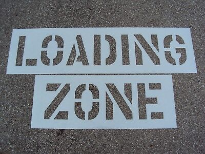 """WORDED Parking Lot Stencil, 10 18"""" Letters Loading Zone"""
