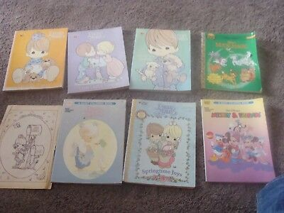 5 Vintage Precious Moments Coloring Books  New / used