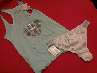 Victorias Secret Bridal Set Tank Top w/ Panty  Bling MEDIUM Set NWT - BR8