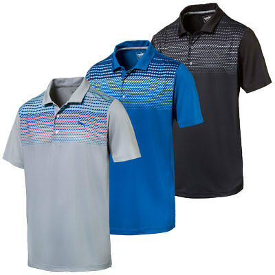 Puma Golf 2017 Mens Sportstyle Road Map Moisture-Wicking UV Resistant Polo Shirt