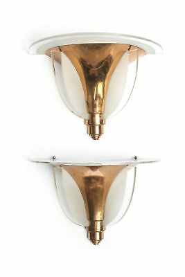 Magnificent Pair Of French Art Deco Sconces By Petitot