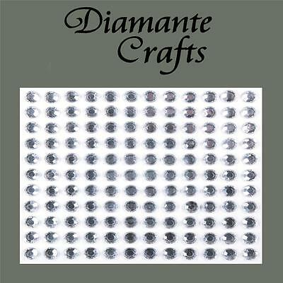 132 x 5mm Clear Diamante Self Adhesive Rhinestone body Vajazzle Gems