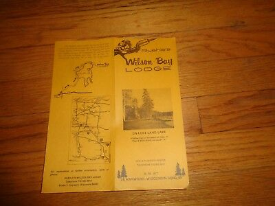 Ruehle's Wilson Bay Lodge Hayward Wisconsin Lost Land Lake Brochure