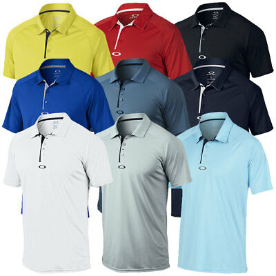 Oakley Golf 2017 Mens Elemental 2.0 Ohydrolix Antibacterial Ellipse Polo Shirt