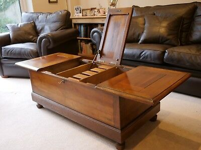 Antique Style Solid Cherry Wood CHEST/ COFFEE TABLE with drawers TRUNK WINE