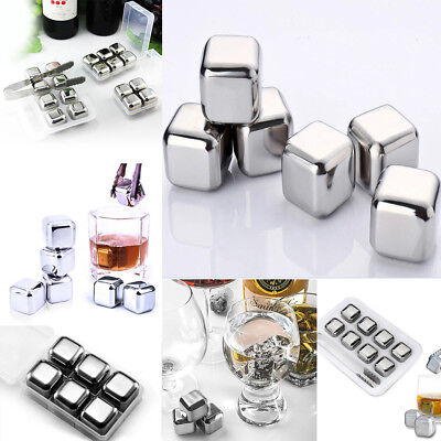 Ice Stone Rock Whiskey Cube Drink Beverage Cooler Stones Stainless Steel Ball