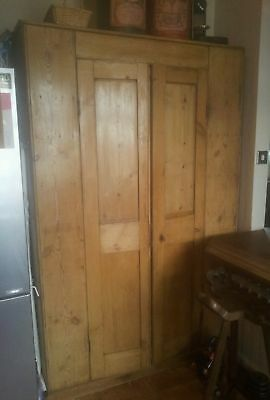 Large Anitque Pine Pantry Cupboard