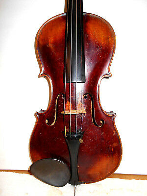 "Antique Old Vintage ""Jacobus Stainer"" 2 Pc. Back Full Size Violin - No Reserve"