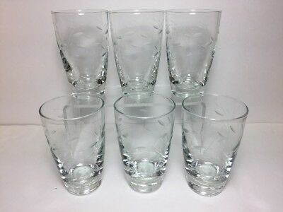 Libbey Glass Tumblers Sets of Six 10 Ounce and Six 8 Ounce Discontinued Vintage