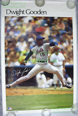 "Vintage Original ☆ SIGNED ☆ Dwight ""Dr. K"" Gooden Poster Sports Illustrated 4506"