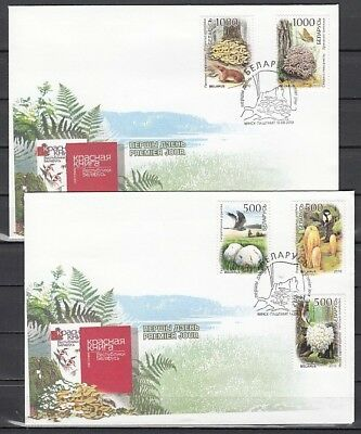 Belarus, Scott cat. 741-745. Mushrooms issue on a First day cover.