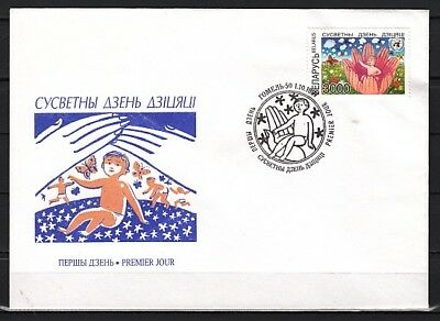 Belarus, Scott cat. 224 International Children`s Day issue on a First day cover.