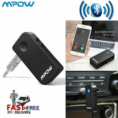 Mpow Wireless Bluetooth Audio A2DP Car Music Receiver 3.5mm AUX Adapter New