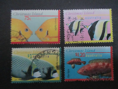 No -3--1995--97   CHRISTMAS  ISLAND   4  STAMPS    HIGH  VALUES  -USED  -- A1