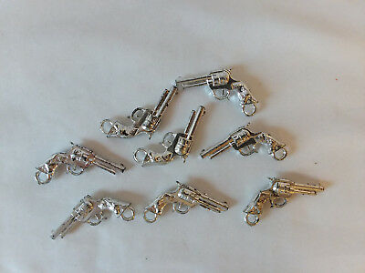 Lot of 8 vintage gumball machine Cracker Jack prize charm toy plastic Pistols