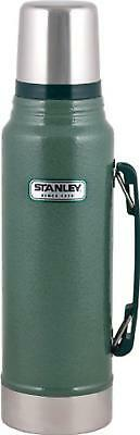 Stanley 1.1 Quart Classic Thermos Vacuum Bottle Stainless Steel, Hammertone Gree