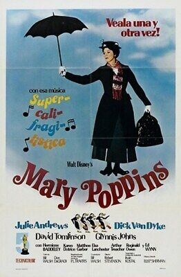 MARY POPPINS MOVIE POSTER Julie Andrews HOT VINTAGE 3 - PRINT IMAGE PHOTO -QW0