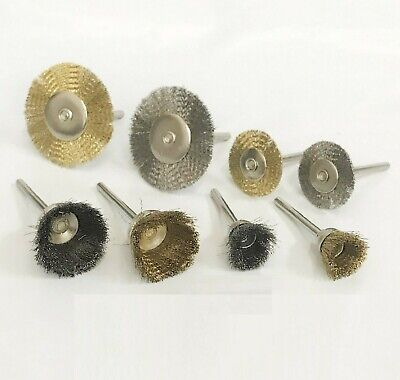 20pc Mini Stainless Steel Brass Wire Brush Wheel Cup For Rotary Tool Set