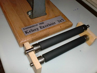 Kelsey Excelsior 3x5 Rollers and trucks rubber, to fit your letterpress press