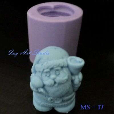 Christmas Santa Claus Silicone Soap Mold/Candle Mold/Mould One Cavity DS01