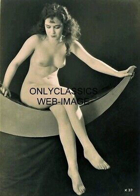 1920's XAN STARK PINUP ON PAPER MOON STUDIO 5X7 PHOTOGRAPH CHEESECAKE ART DECO